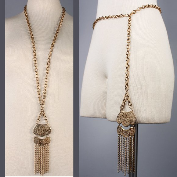 Belly Chain Vintage 90s Freshwater Pearl and Shell Belt or Necklace